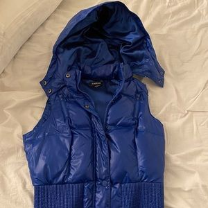 bebe XS hooded blue vest